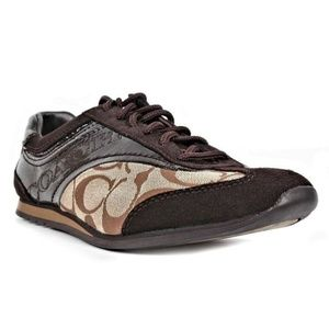 Coach Kodie Signature C Patent Leather Suede Shoes